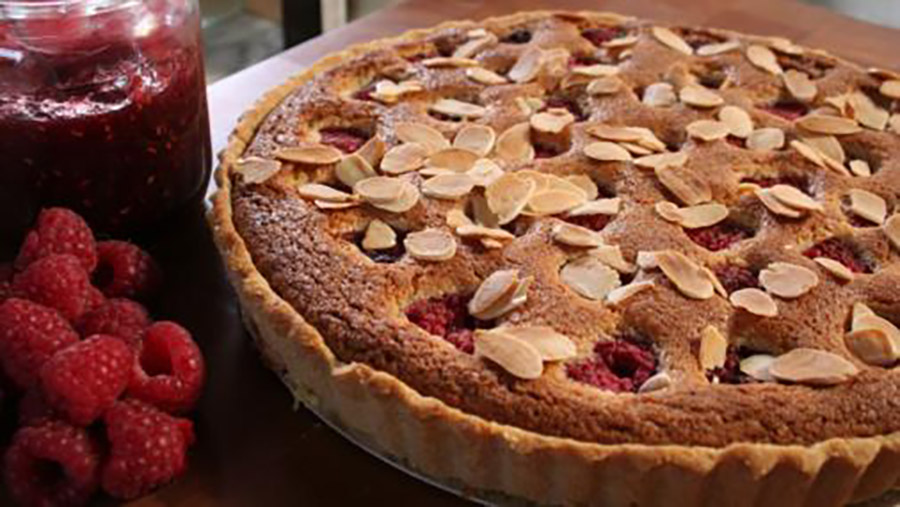Raspberry & Almond Tart