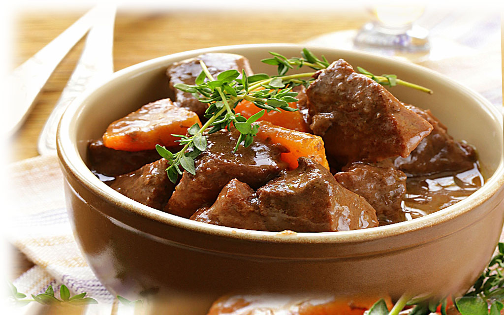 Traditional Italian Beef Braised in Red Wine